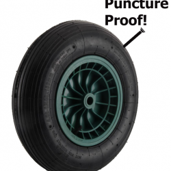 3.50-8 Puncture Proof Solid Wheelbarrow Wheel and Tyre 3.50×8/ 350×4